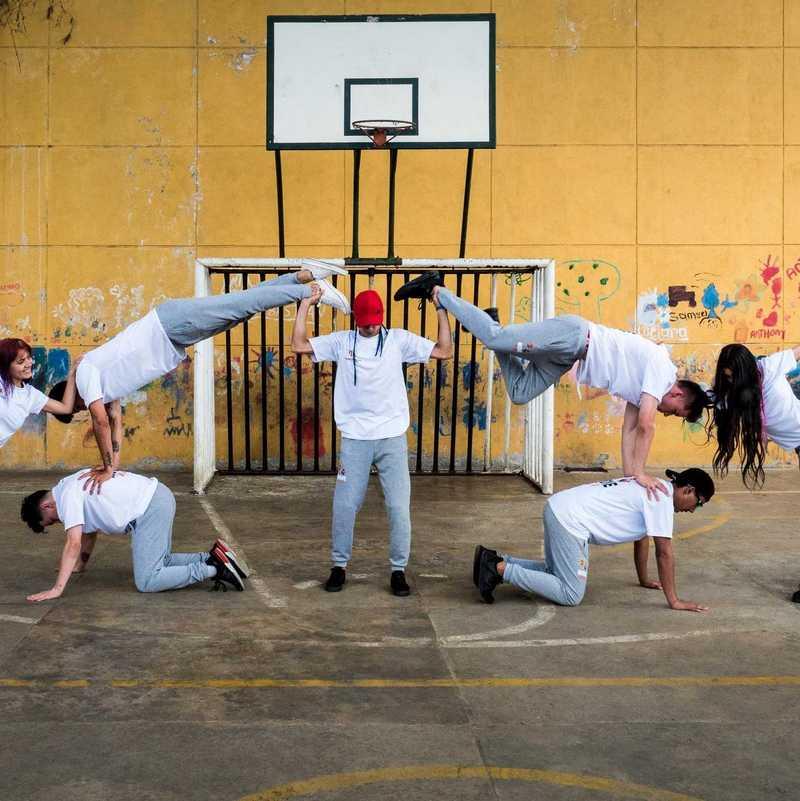 Tanzgruppe bei einer Choreo