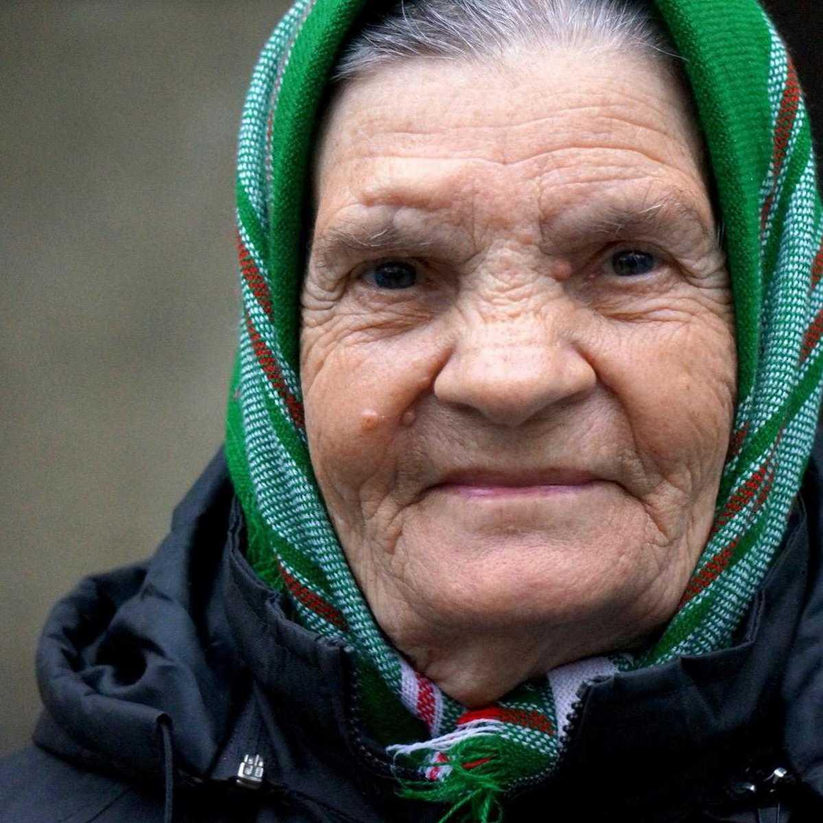 alte Frau in Moldawien