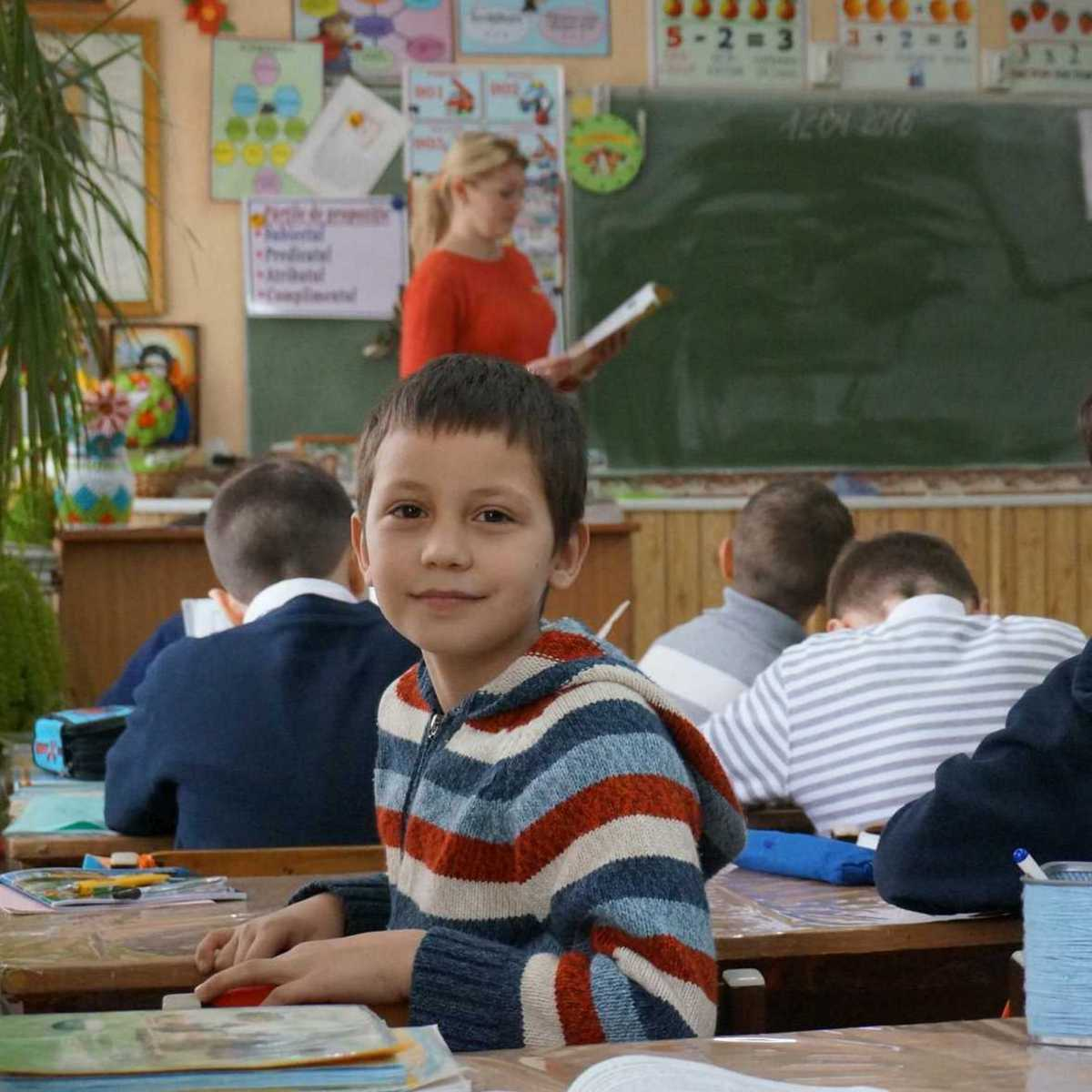 Schüler während des Unterrichts im Gimnaziul