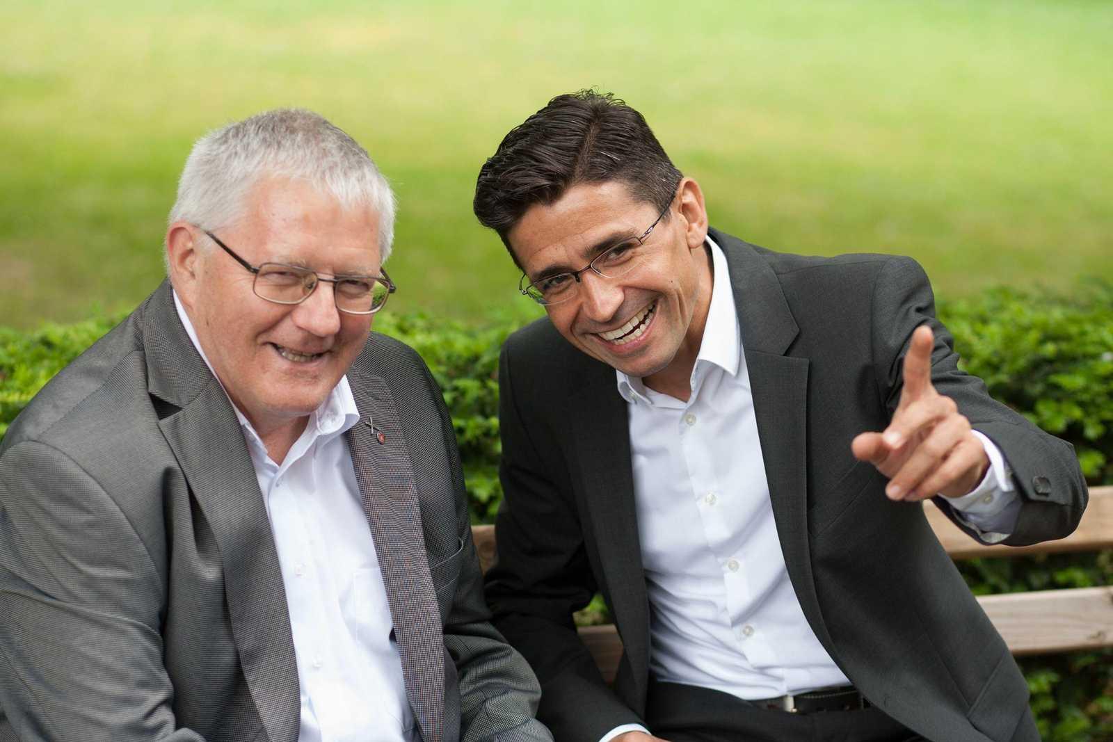 Pater Josef Grünner und Dr. Nelson Penedo