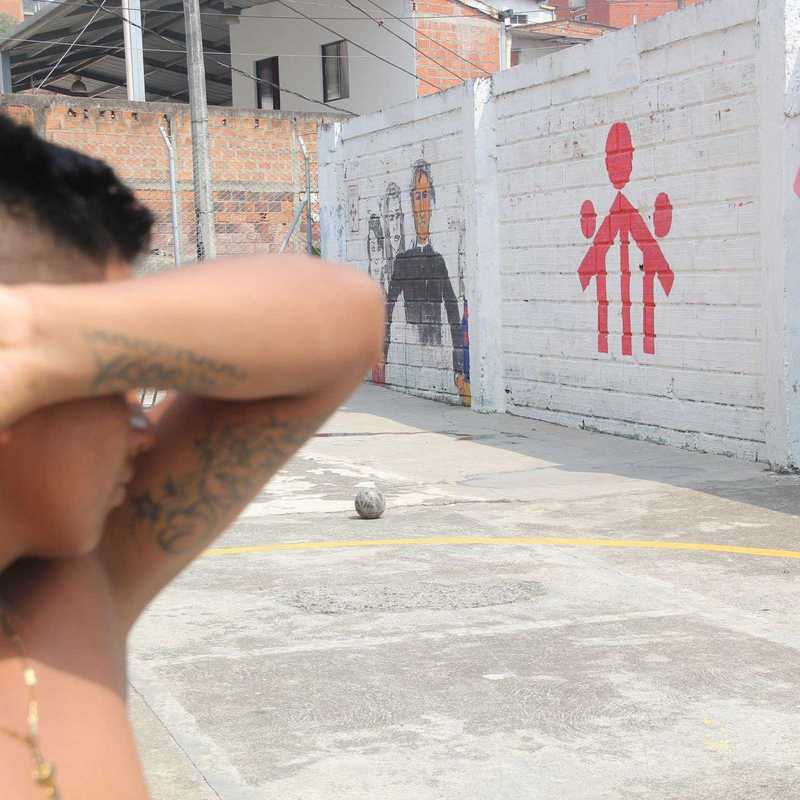 ehemaliger Kindersoldat in der Ciudad Don Bosco