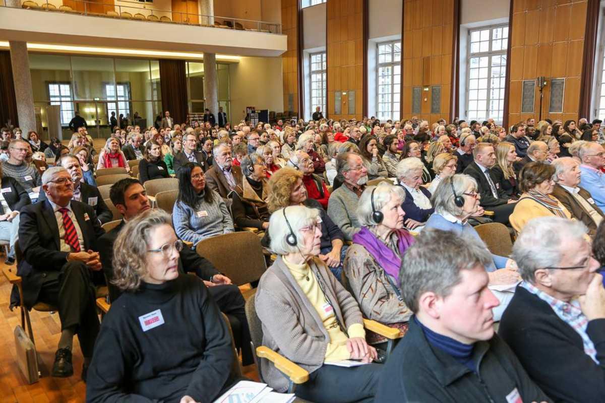 Zuhörerraum beim Don Bosco Forum 2017 in der Aula der Uni Bonn