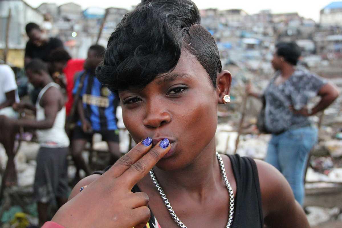 Eine junge Prostituierte in Freetown
