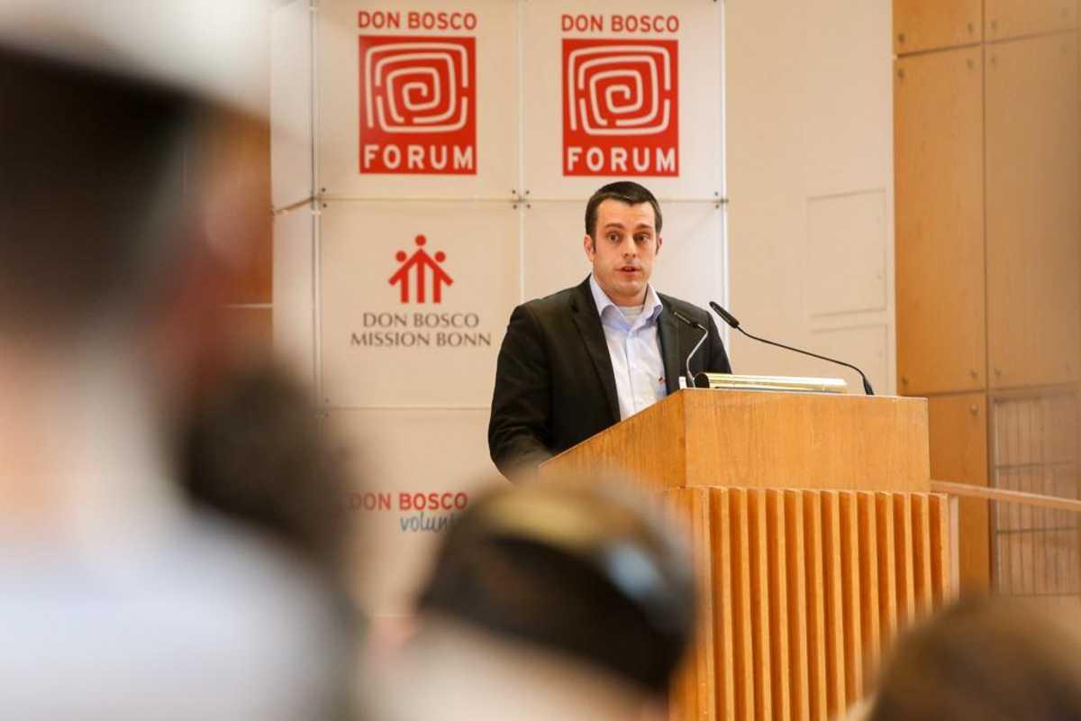 Sebastian Schuster als Redner beim Don Bosco Forum 2017
