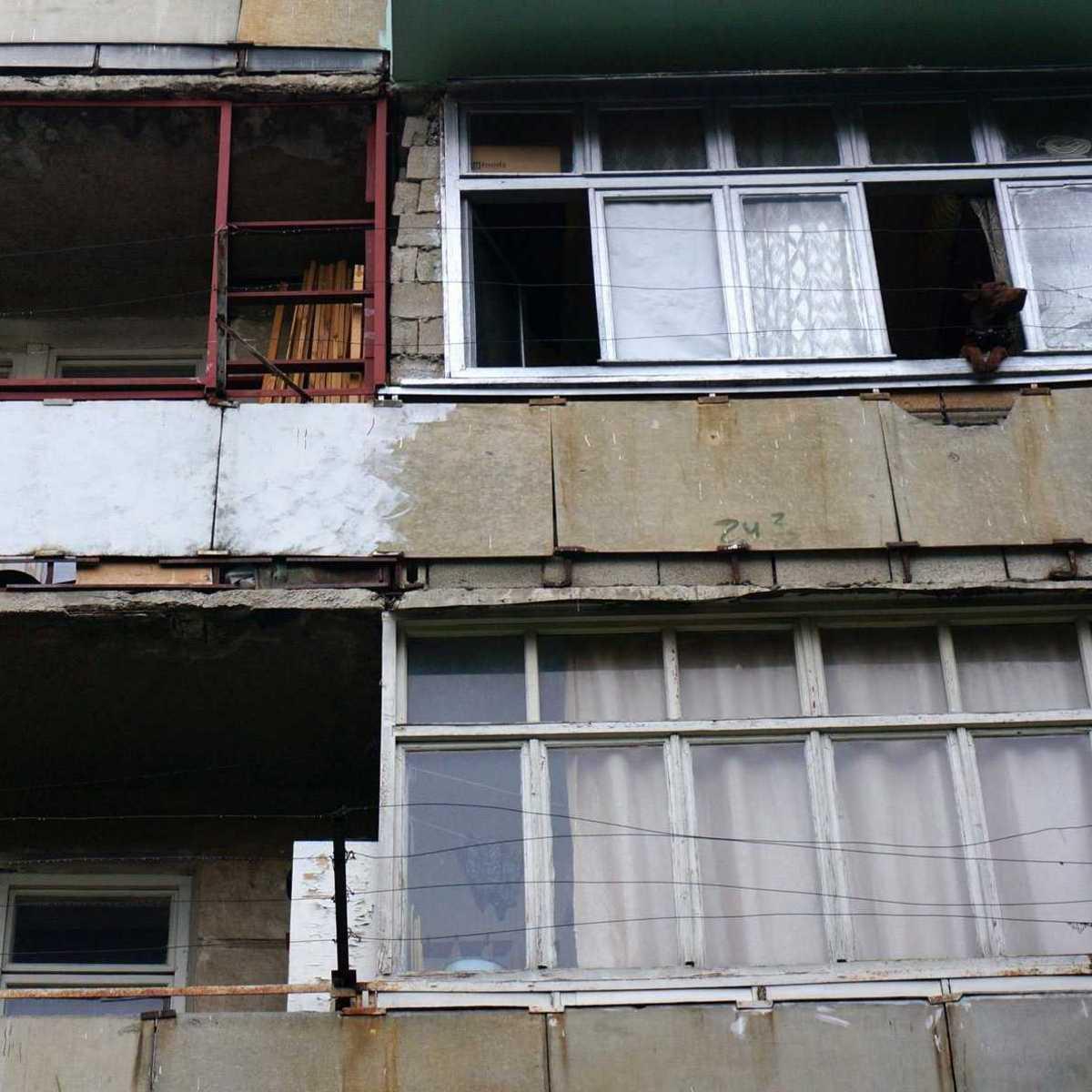 heruntergekommene Gebäude in Chisinau