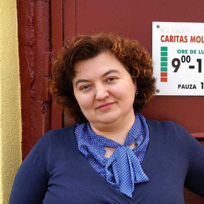 Otilia Sirbu, Direktorin der Caritas Moldawien